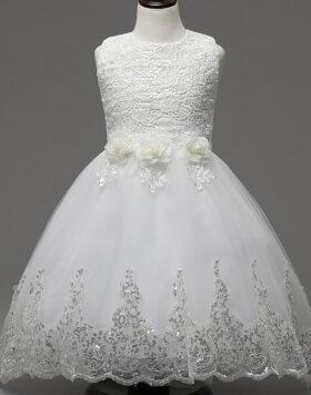 Terbaru Gaun Anak Brokat Putih Impor 2020