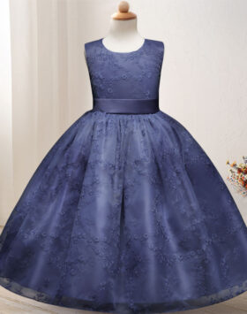 Terbaru Gaun Anak Formal Biru Mewah 2020