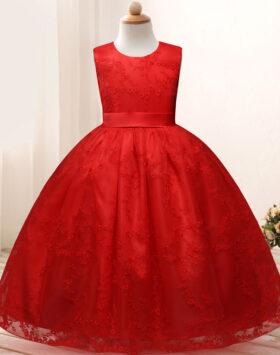 Terbaru Gaun Anak Formal Merah Mewah 2020