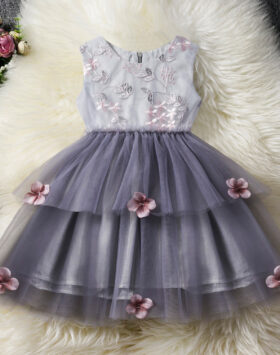 Terbaru Gaun Anak Model Dress Tutu Grey 2020