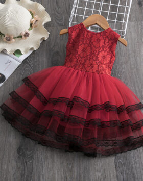 Terbaru Gaun Anak Rok Tutu Renda Merah 2020