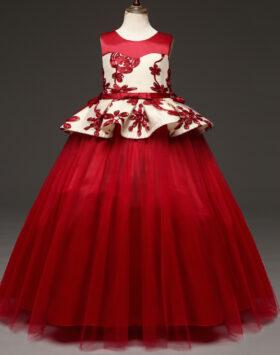 Terbaru Gaun Anak Style Amerika Merah 2020