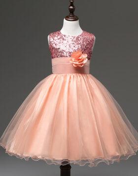 Terbaru Gaun Anak Style Eropa Peach 2020