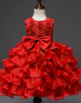 Terbaru Gaun Pesta Anak Rumbai Merah 2020