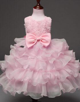 Terbaru Gaun Pesta Anak Rumbai Pink 2020