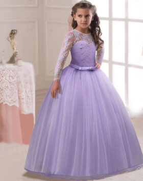 Terbaru Gaun Princess Anak Lavender 2020