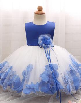 Terbaru Mini Dress Anak Mawar Biru 2020