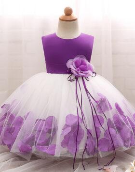 Terbaru Mini Dress Anak Mawar Ungu 2020