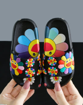 Terbaru Sandal Anak Bunga Hitam 2020