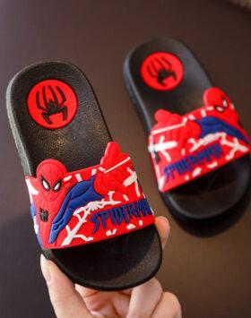 Terbaru Sandal Slip On Spiderman Hitam 02