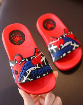 Terbaru Sandal Slip On Spiderman Merah 01