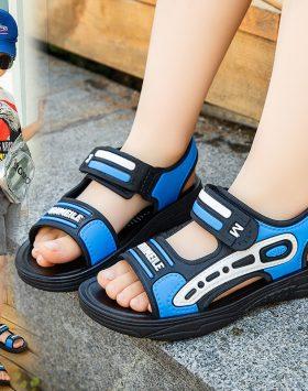 Terbaru Sandal Anak Cowok Velcro Biru 2021