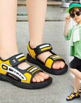 Terbaru Sandal Anak Cowok Velcro Kuning 2021