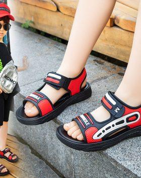 Terbaru Sandal Anak Cowok Velcro Merah 2021