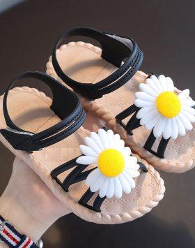Terbaru Sandal Anak Daisy Tali Hitam 2021