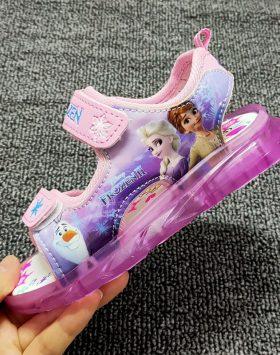 Terbaru Sandal Anak LED Frozen Baby Pink 2021