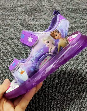 Terbaru Sandal LED Frozen Ungu 2021