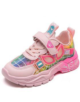 Terbaru Sepatu Anak SUPRM Uk 26-36 Solid Pink