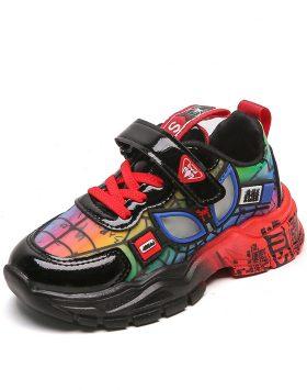 Terbaru Sepatu Anak SUPRM Uk 26-36 Velcro Red